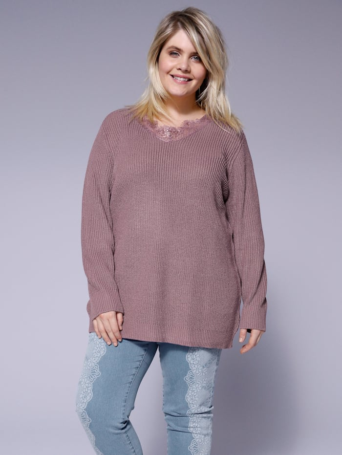 Angel of Style Pullover, Mauve
