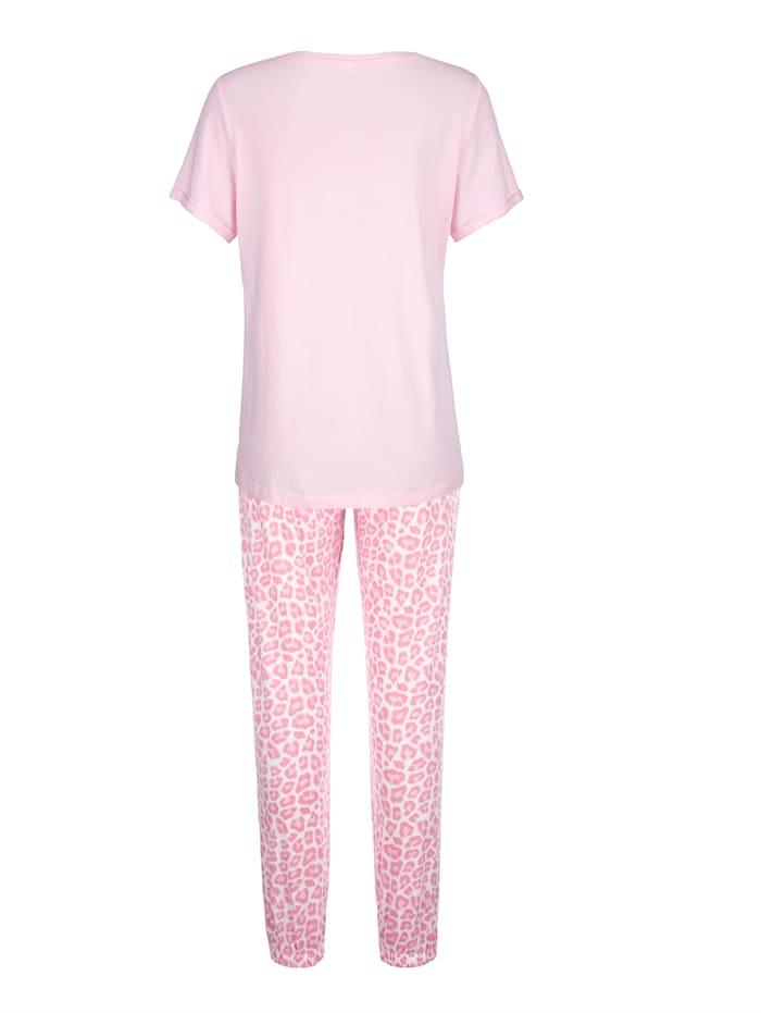 Schlafanzug mit schmückenden Pailletten