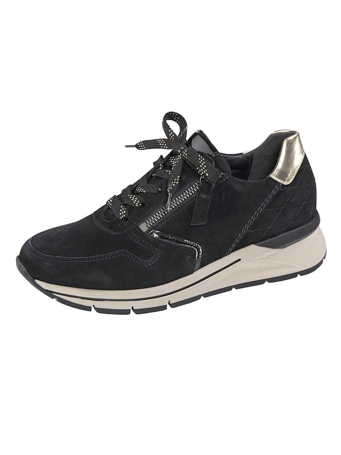 Gabor Sneakers avec glissière côté, Noir