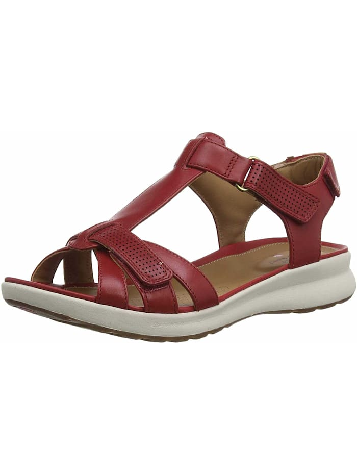 Clarks Sandalen/Sandaletten, rot