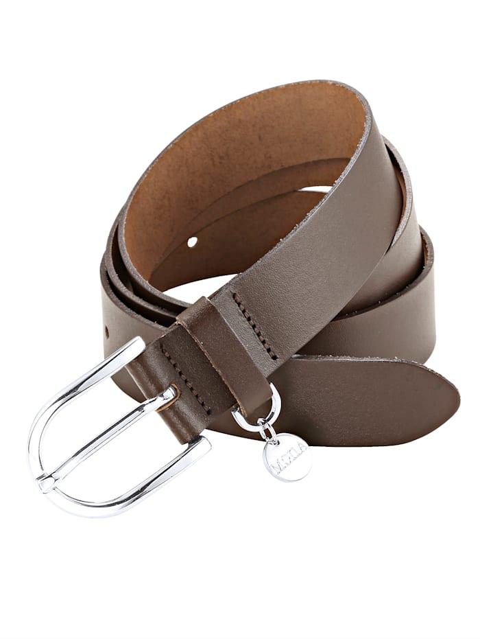 MONA Skinnskärp med MONA-hänge, Mörkbrun