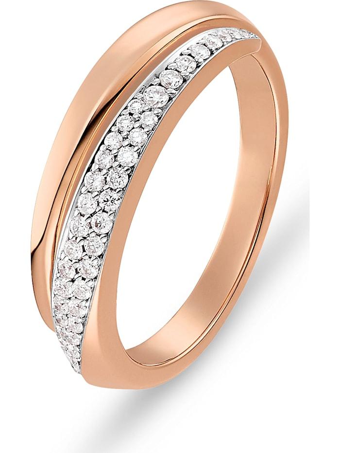 CHRIST C-Collection CHRIST Damen-Damenring 585er Roségold 40 Diamant, rosegold