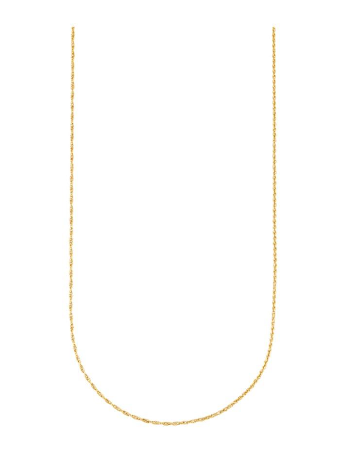 Diemer Gold Chaîne ancre double en or jaune 585, Coloris or jaune