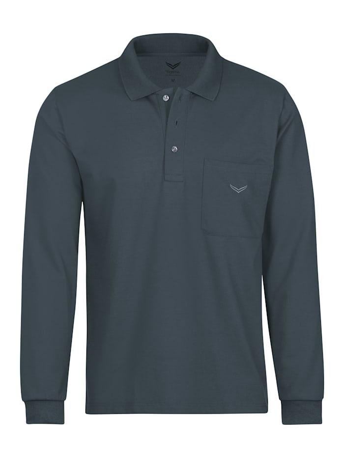Herren Langarm Poloshirt aus Baumwolle