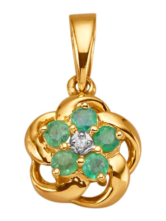 Hanger met smaragd, Groen