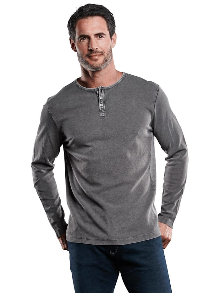 Engbers Henley Shirt, Stahlgrau