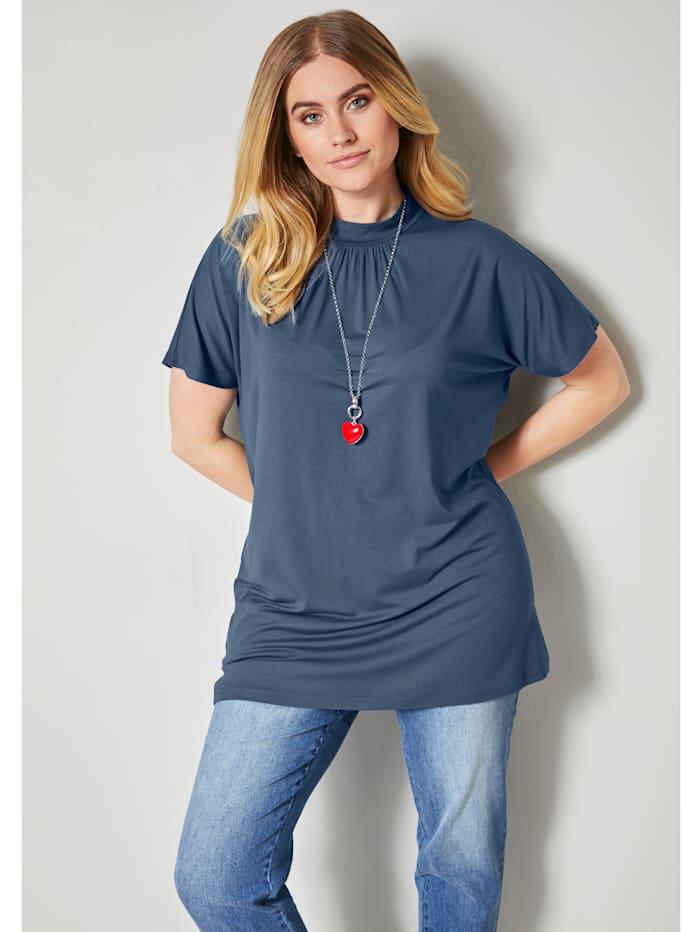 Shirt met smalle opstaande kraag