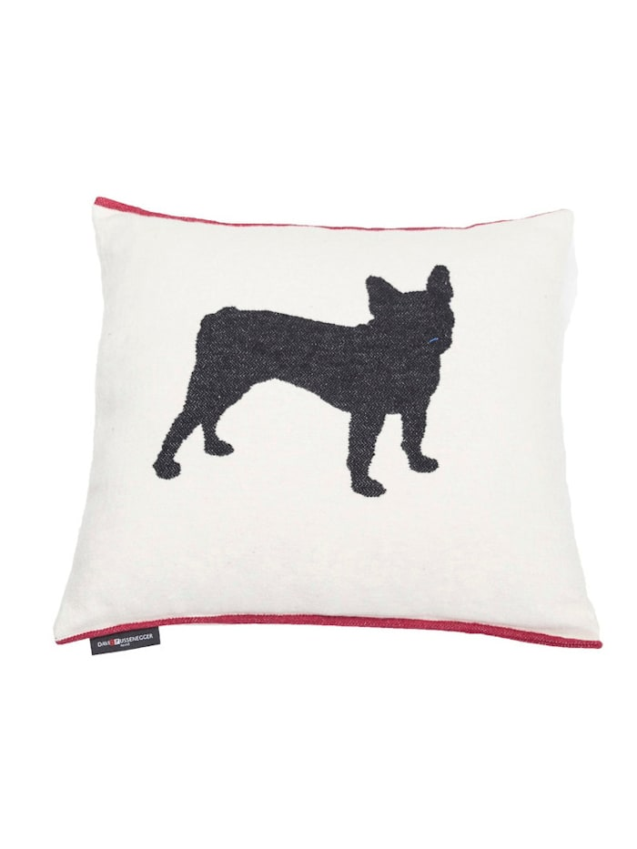 FUSSENEGGER Kissenhülle, Hund, weiß