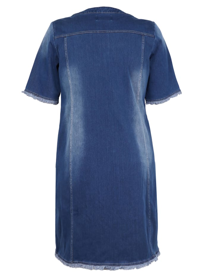 Jeanskleid aus Knit Denim
