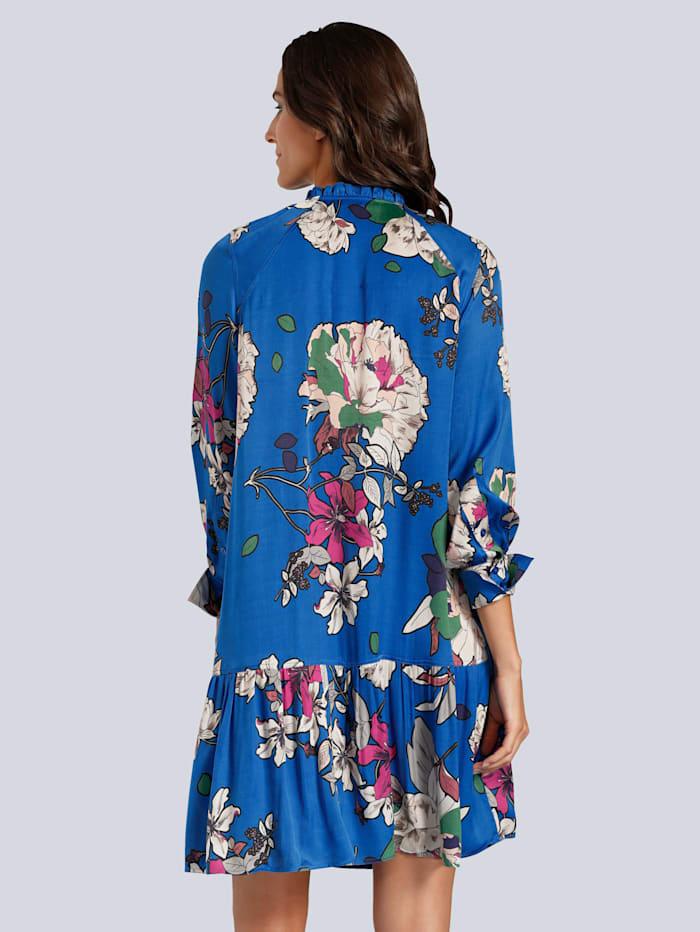 Kleid allover im farbenfrohen Blumendessin