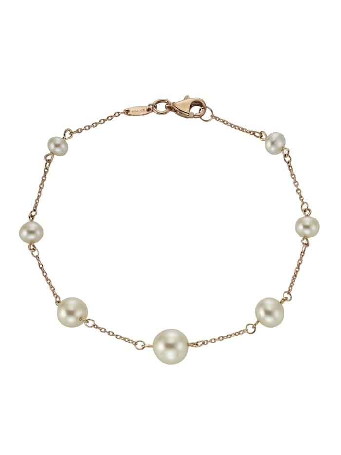 Armband 333/- Gold Perle 19cm Glänzend