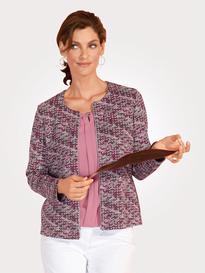 Rabe Jacket made from a soft stretch fabric, Berry