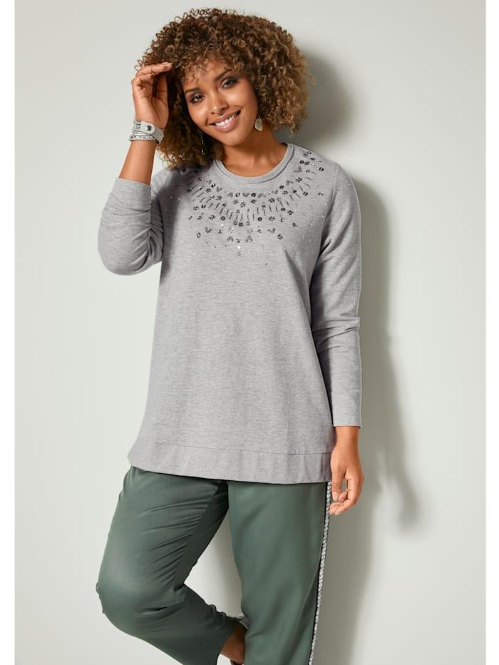 Sweatshirt mit Glanzgarn