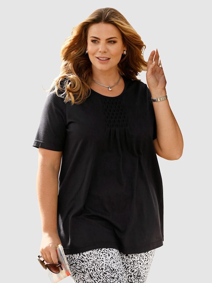 m. collection Shirt in flatterende lengte, Zwart