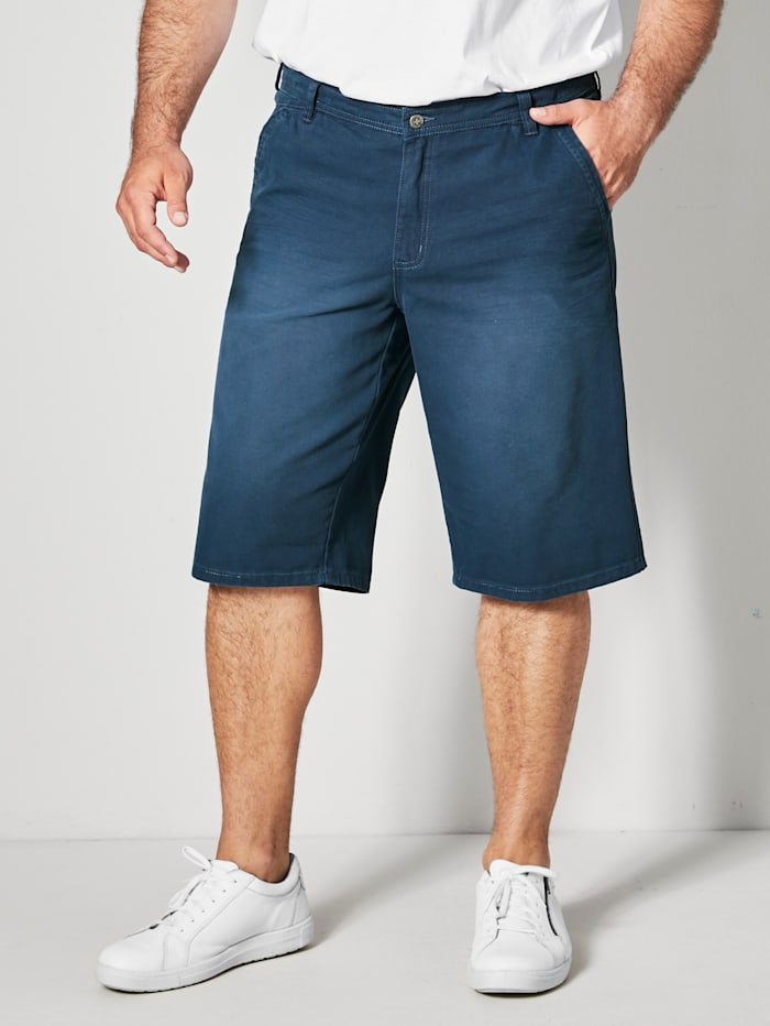 Men Plus Bermuda in swingpocketmodel, Marine