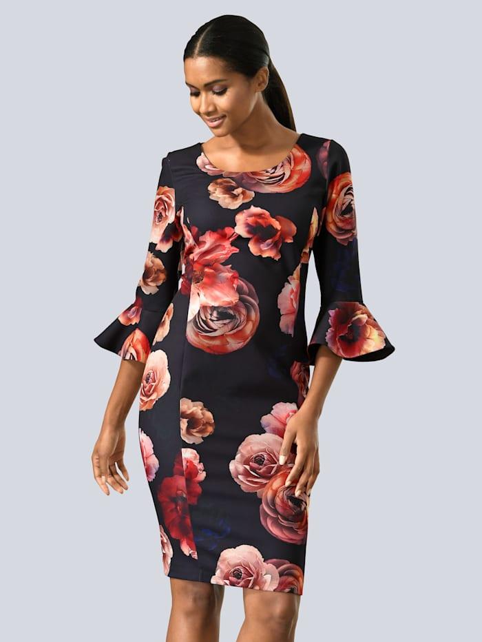 Kleid im Blumendruck