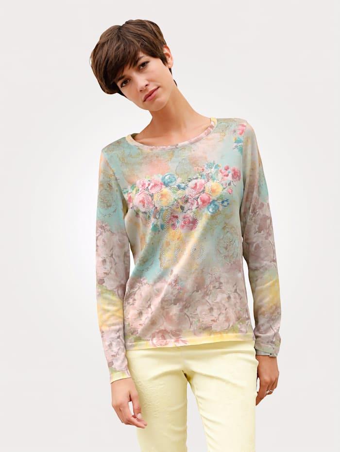 Pullover mit vielfarbigem Druckdessin