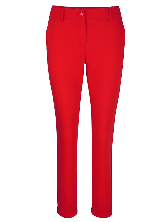 Trousers with turn-up cuffs