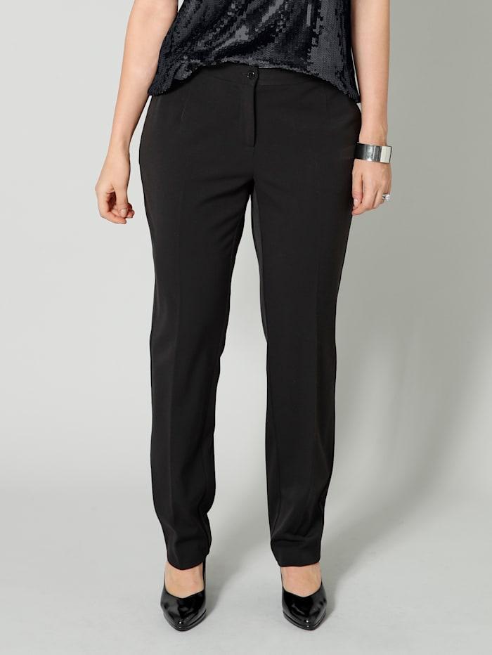 Sara Lindholm Pantalon stretch, Noir