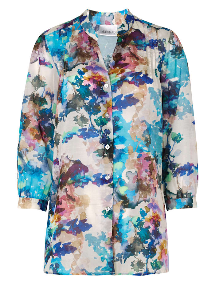 Tunic with an abstract print