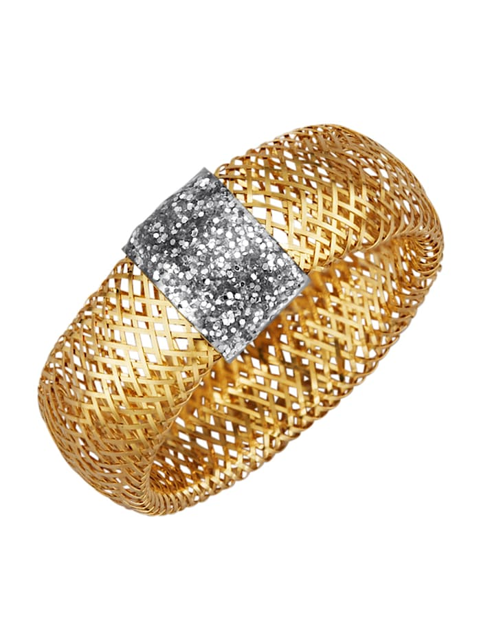 Ring i flexibel design i guld 9 k, Guldfärgad