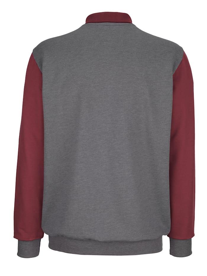 Sweatshirt med krage och knappar