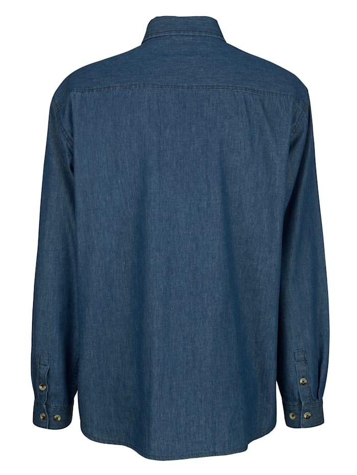 Chemise en jean à poches poitrine
