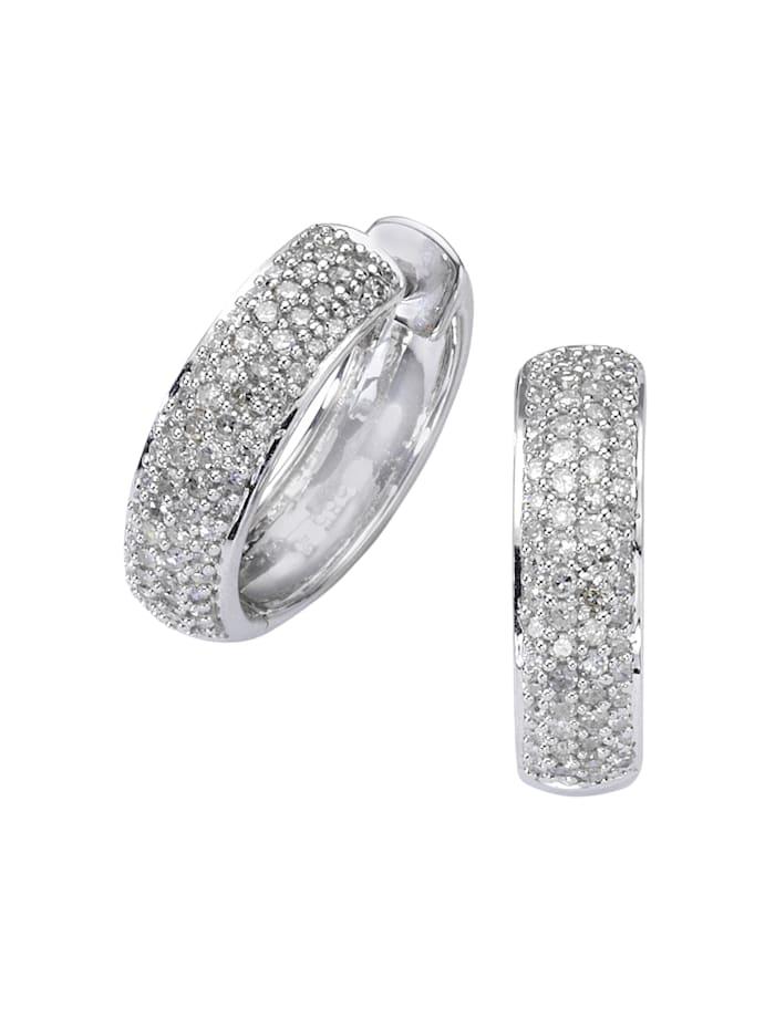 Diamonds by Ellen K. Creolen 585/- Gold Diamant weiß Diamant 1,7cm Glänzend 0,50ct. 585/- Gold, weiß