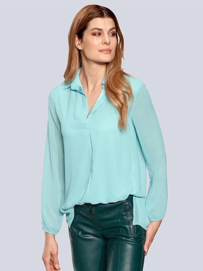 SPORTALM Bluse mit leichtem V-Ausschnitt, Jade