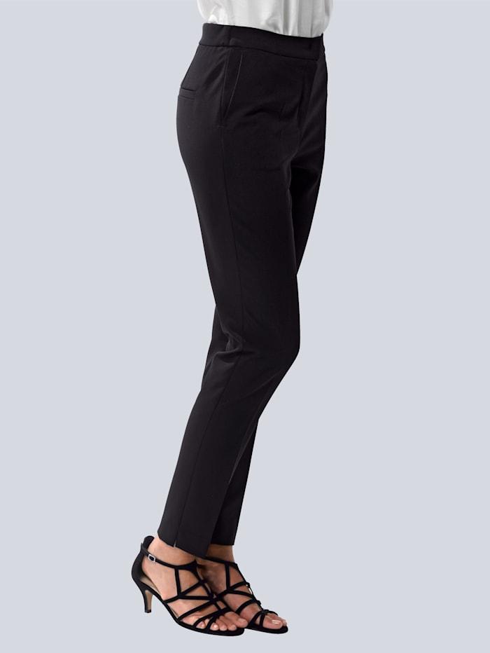 Alba Moda Hose in schmaler Zigarettenform mit Bügelfalte, Schwarz