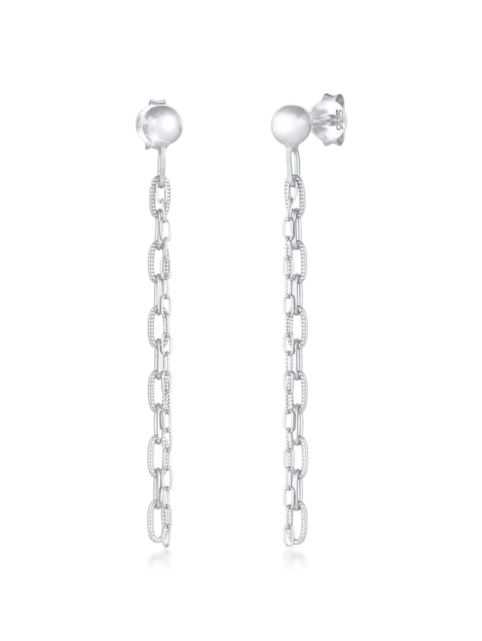 Elli Ohrringe Stecker Hänger Gliederkette Trend 925 Silber, Silber