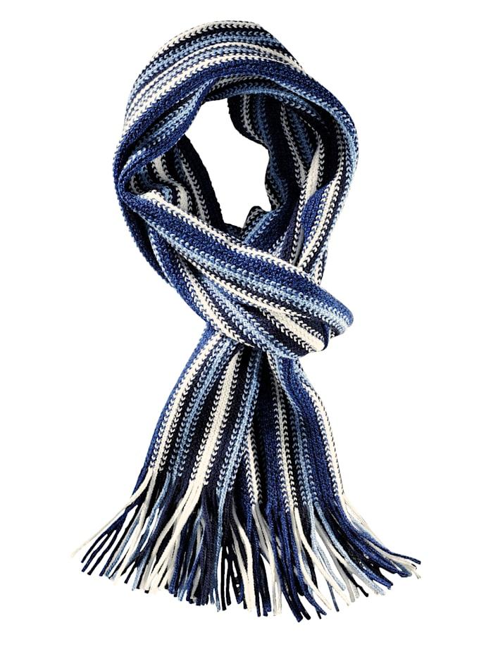 BABISTA Sjaal met modieus streeppatroon, blauw/marine/wolwit