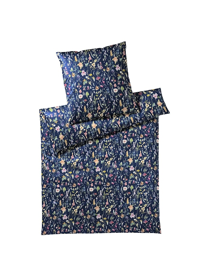 Elegante Jersey Bettwäsche Potpourri deep blue, deep blue