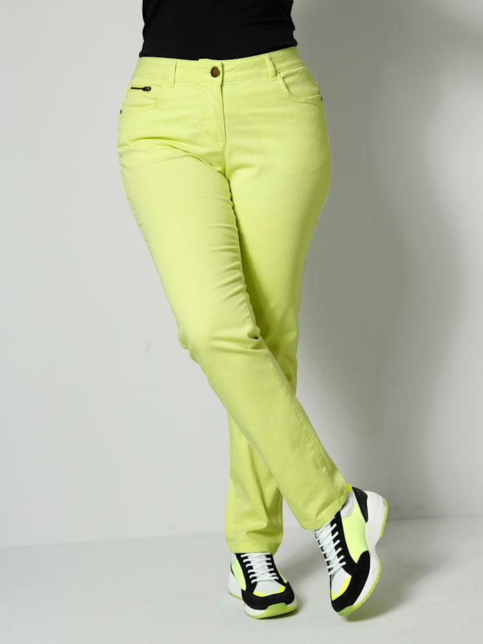 Janet & Joyce Hose Slim Fit, Limettengrün