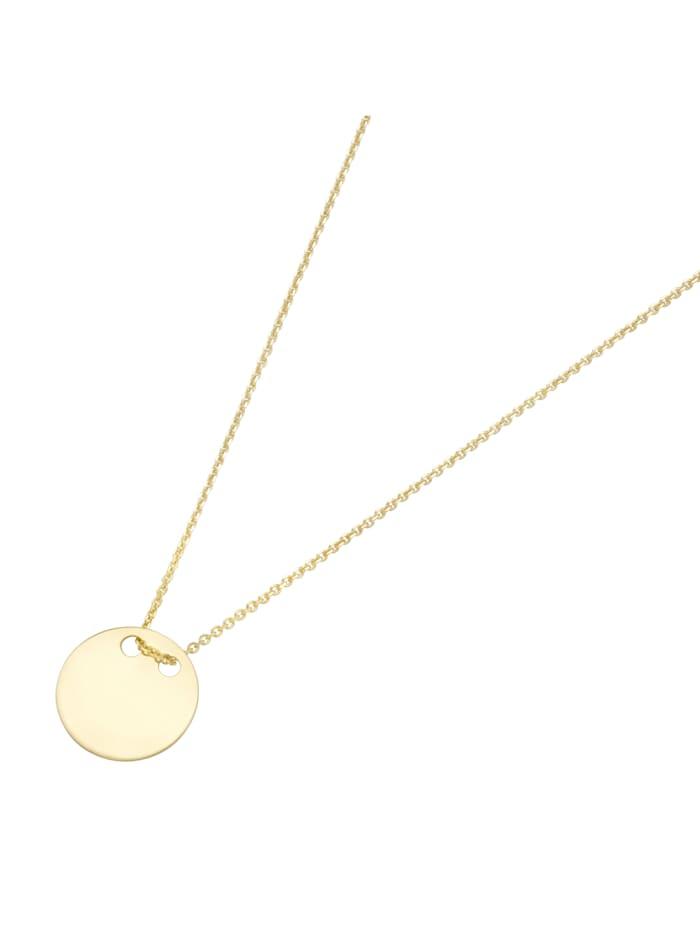 Luigi Merano Kette kleines Plättchen, Gold 585, Gold