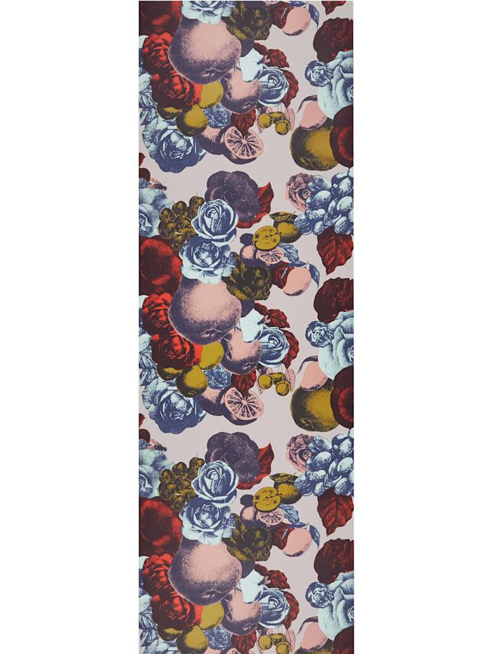 IMPRESSIONEN Tapete Blume/Früchte, Blau/rot