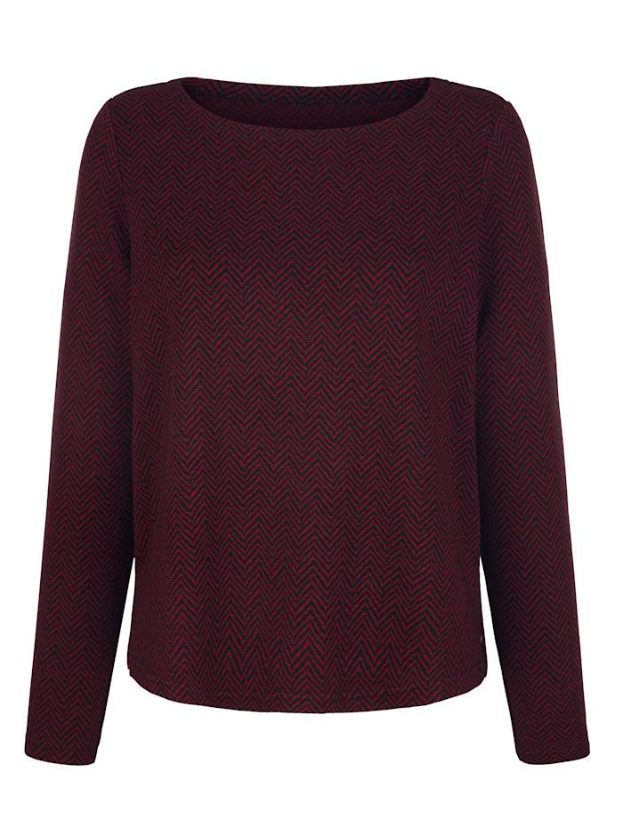 Sweatshirt met visgraatmotief