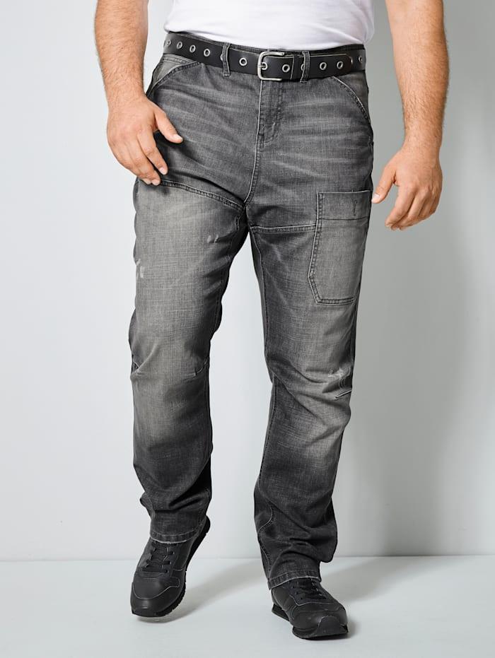 Men Plus Jeans in 5- Pocket Form, Grey