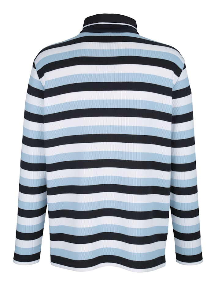 Sweatshirt met ingebreid streeppatroon