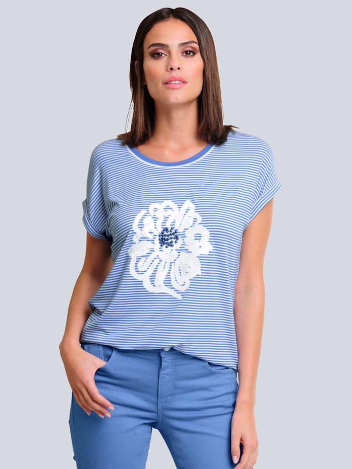 Alba Moda Shirt im exklusiven Alba Moda Druck, Blau/Weiß