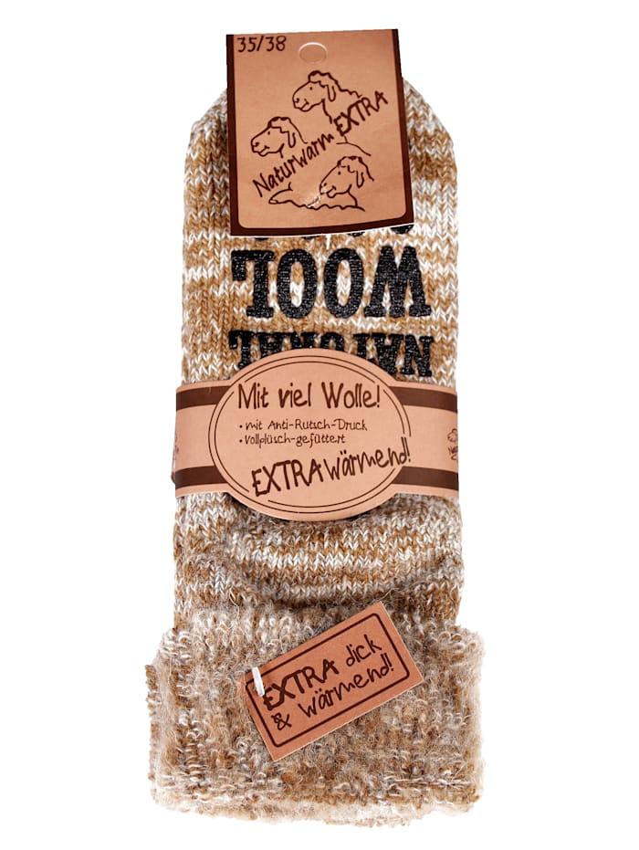 GHZ Wollen sokken voor warme voeten, Beige
