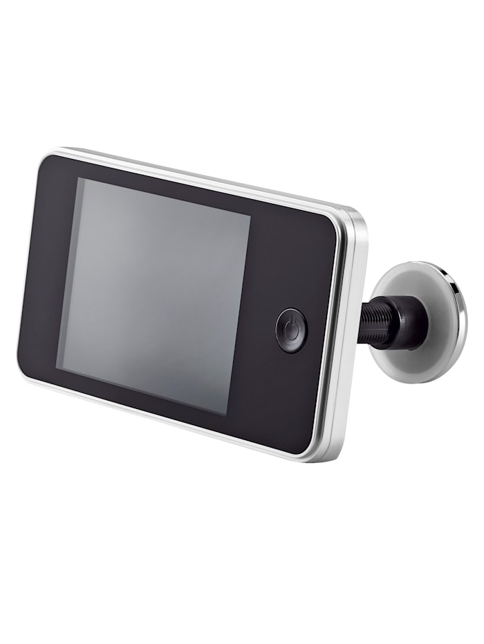 Digitaalinen ovisilmä 1,3 MP kamera, 120° laajakulma, 8,1 cm värinäyttö, musta/hopeanvärinen
