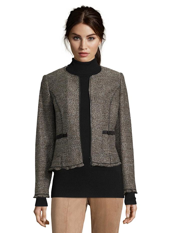 Blazer-Jacke mit Reißverschluss