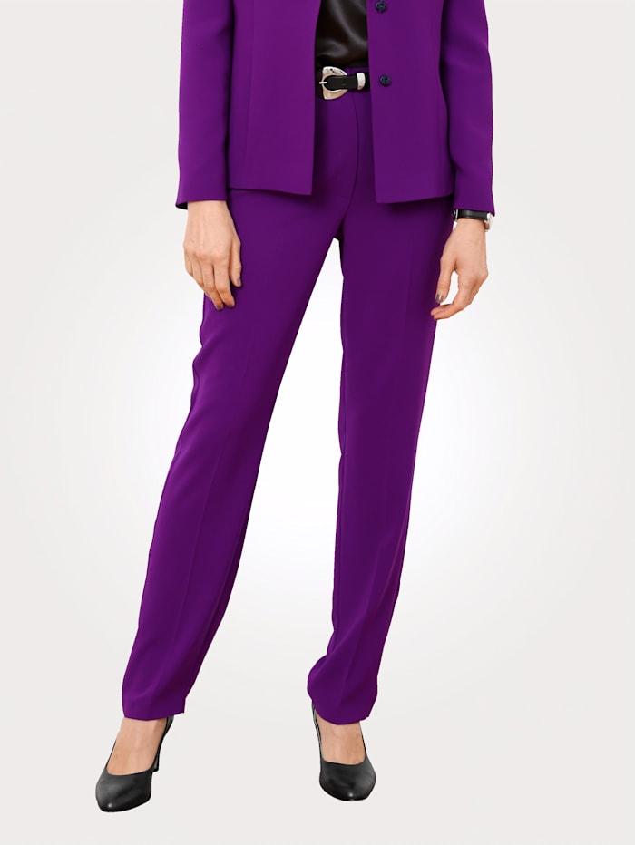 MONA Pantalon à taille élastiquée contrastante, Violet