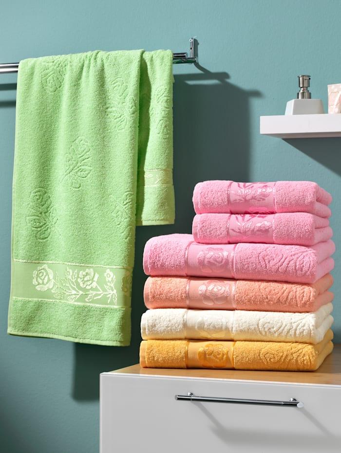 Webschatz Handdoeken 'Olga', groen
