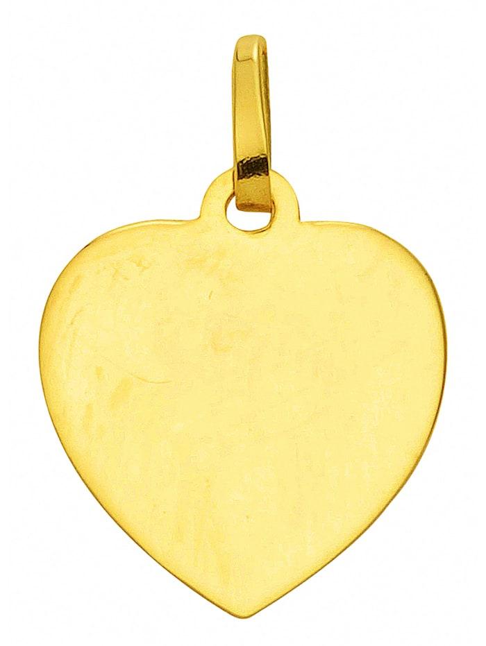 1001 Diamonds Damen Goldschmuck 333 Gold Gravurplatte Anhänger, gold