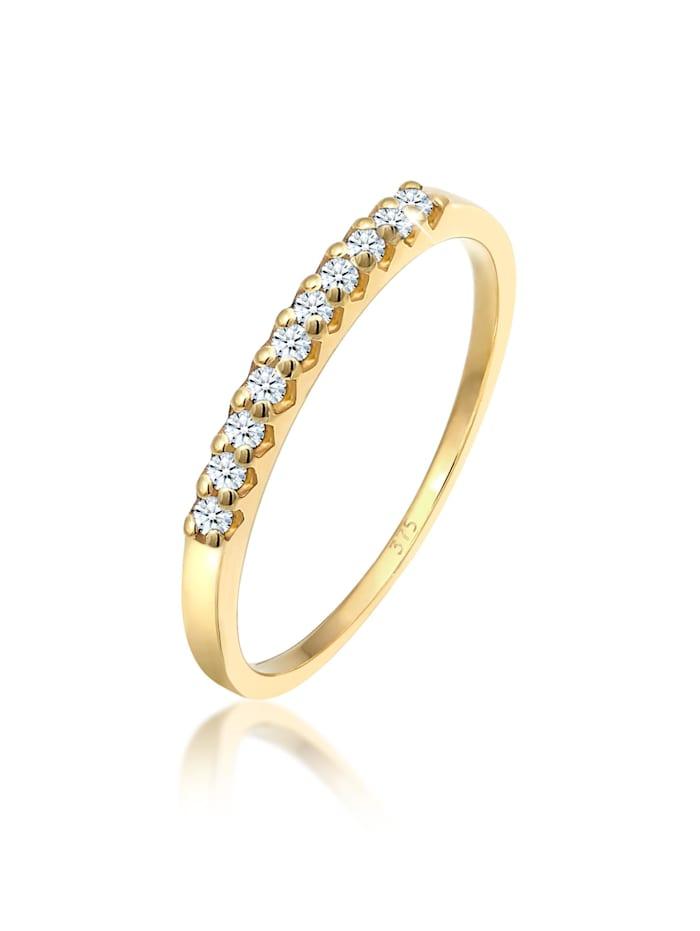 DIAMORE Ring Microsetting Diamant (0.15 Ct.) 375 Gelbgold, Gold