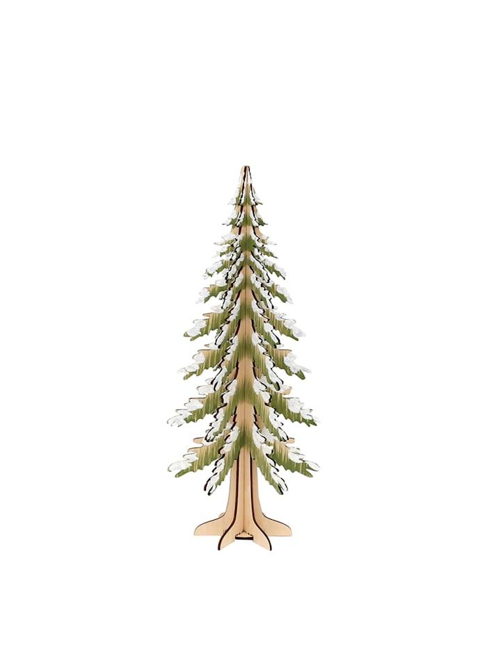 Holz Deko-Baum beschneit