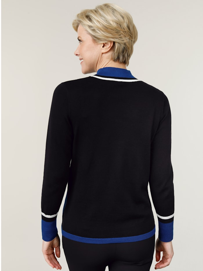 Jumper in a contrasting intarsia knit