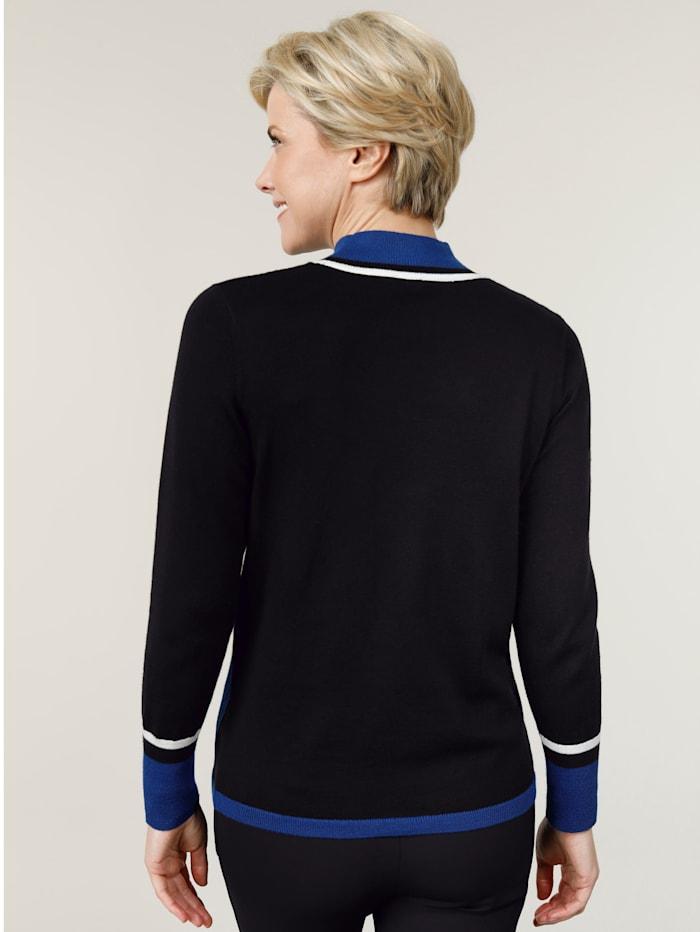Pullover mit kontrastreicher Intarsie